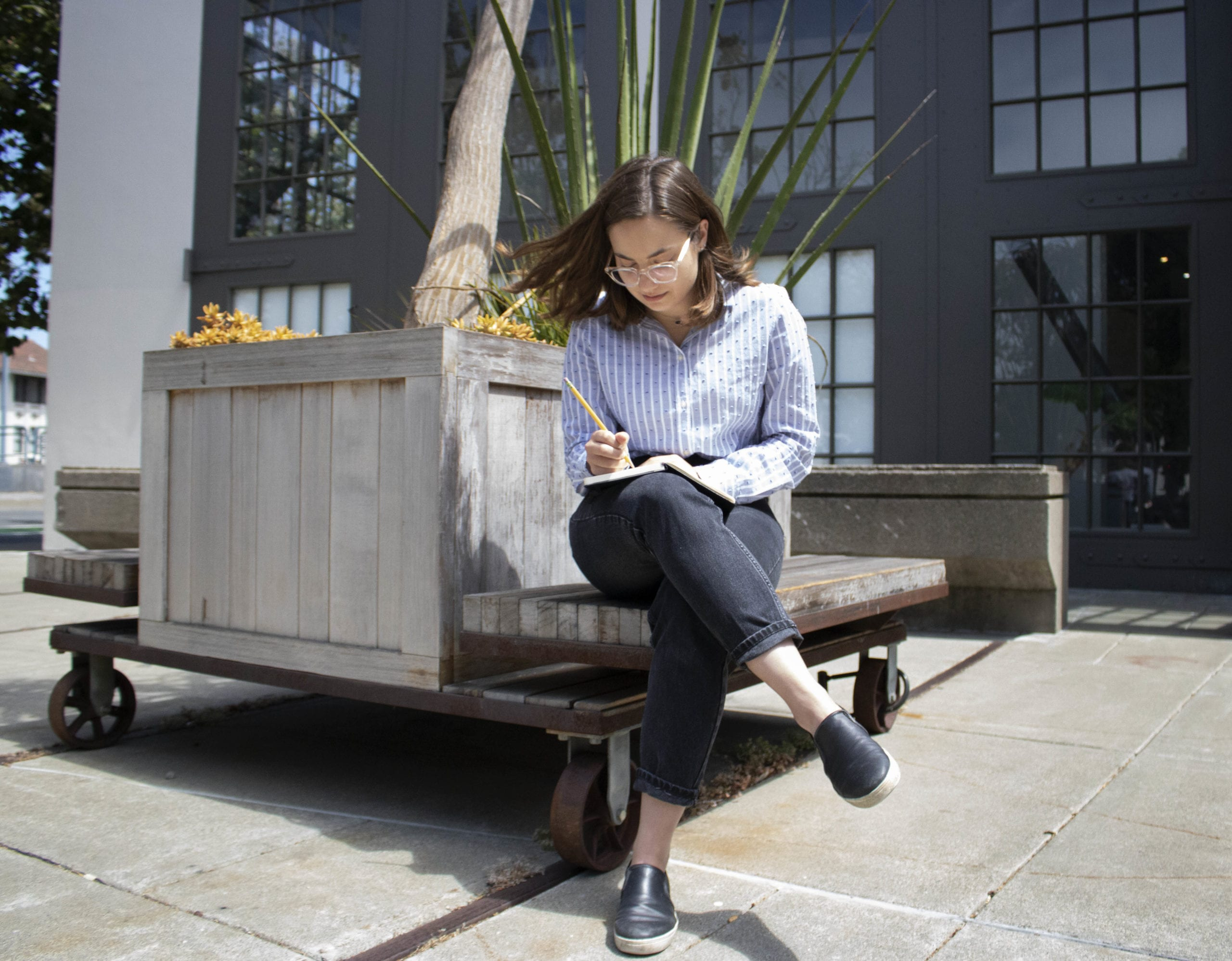 Kate Silber at her MKThink summer internship