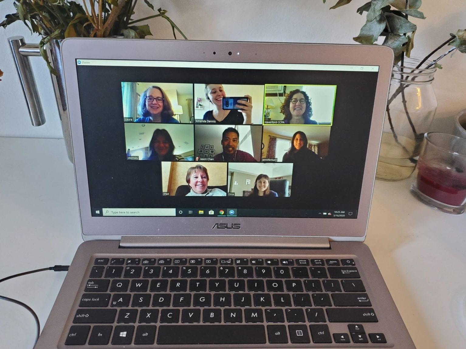 CCPA's virtual staff meeting this morning!