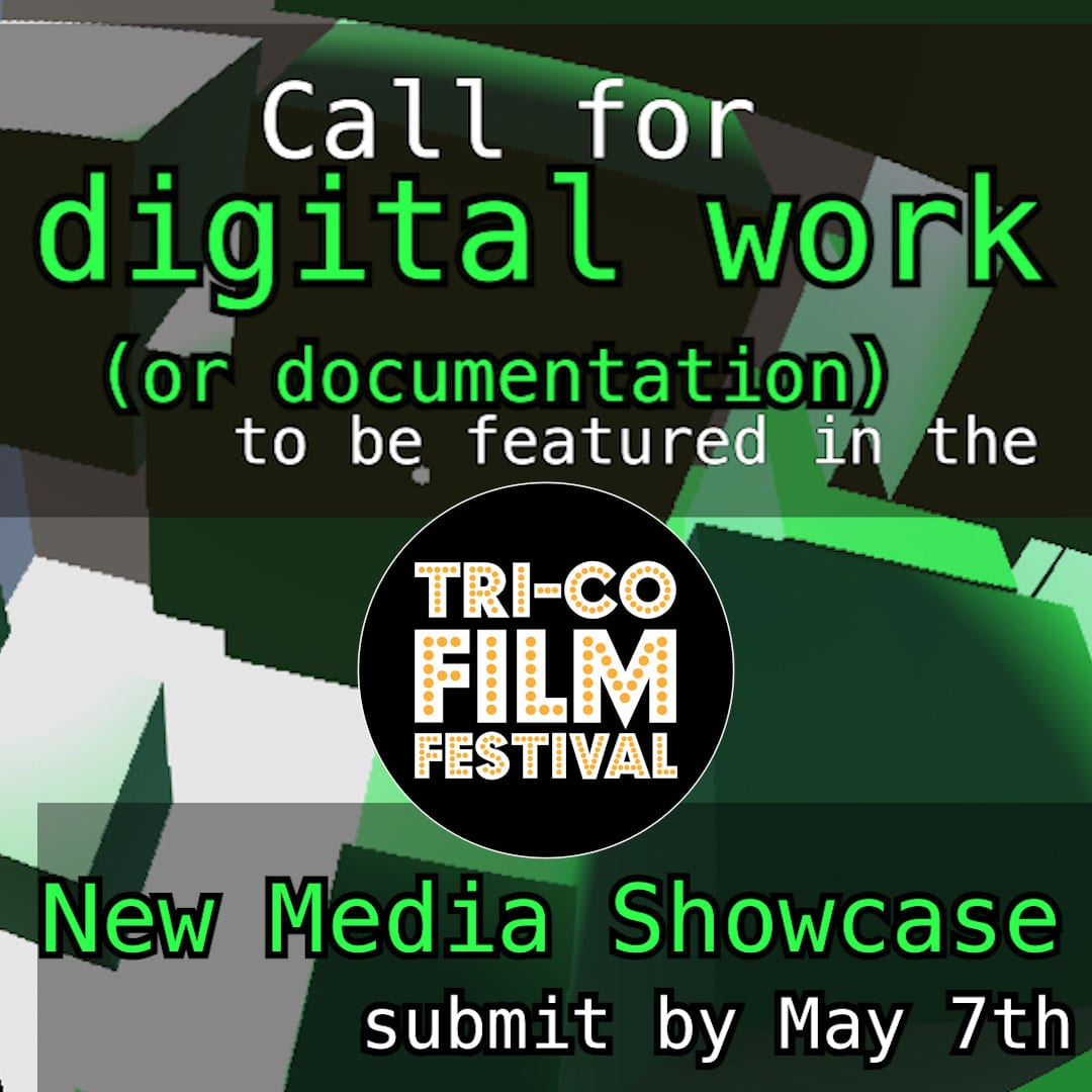 submit digital work for the new media showcase