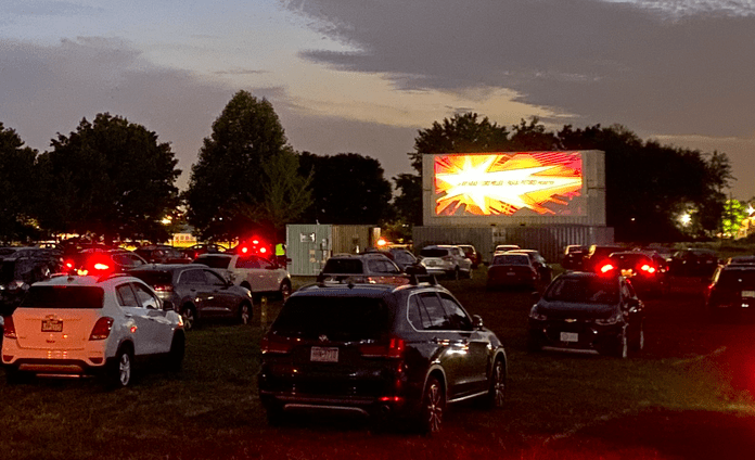 cars at a drive in movie